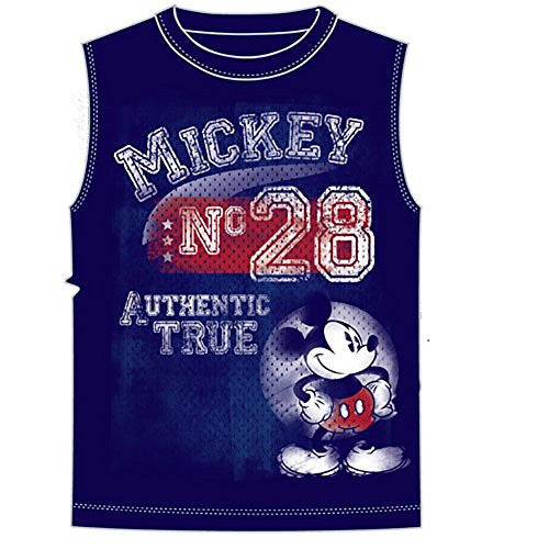 Disney Mickey Mouse Mens Shooter Tank Original 28, Navy - SHOPME.COM