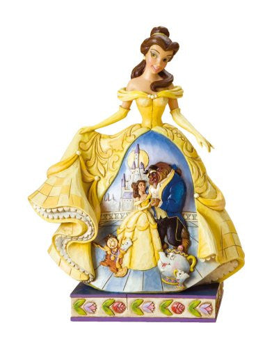 Disney Traditions by Jim Shore Belle Stone Resin Figurine - SHOPME.COM