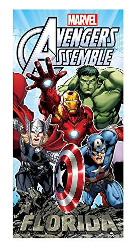 Marvel Florida Avengers Rock Beach Towel - SHOPME.COM