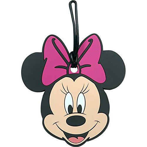 Disney Minnie Mouse Collectors Luggage Suitcase Tag - Pink Bow