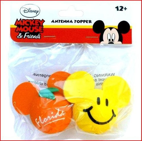 Mickey Mouse Florida Orange and Mickey Mouse Happy Smile Antenna Toppers - SHOPME.COM