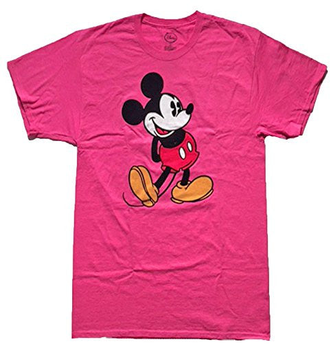 Disney Women's Mickey Mouse Pink Head to Toe T Shirt (Small) - SHOPME.COM