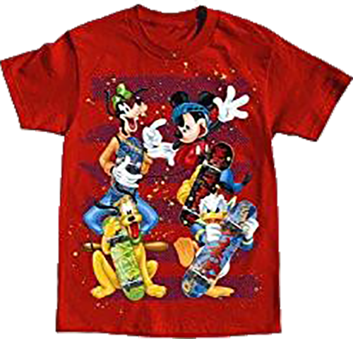 DISNEY MICKEY MOUSE SKATERS YOUTH BOYS T-SHIRT - SHOPME.COM
