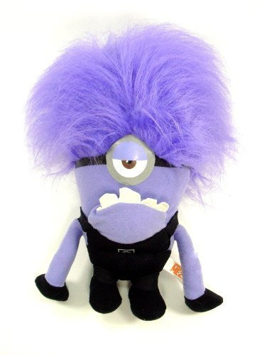 Despicable Me 2 - Evil ONE EYED Purple Minion 10 Plush - SHOPME.COM