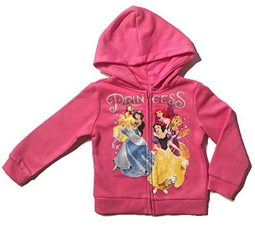 Disney Princess Little Girls Toddler Zip Hoodie - SHOPME.COM