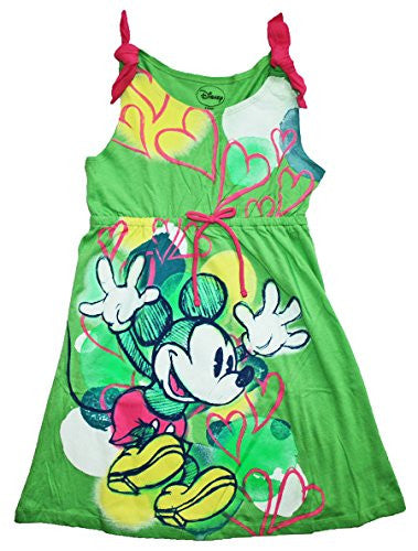 Disney Mickey Mouse Big Girls Sketchy Sleeveless Dress (M7/8) - SHOPME.COM