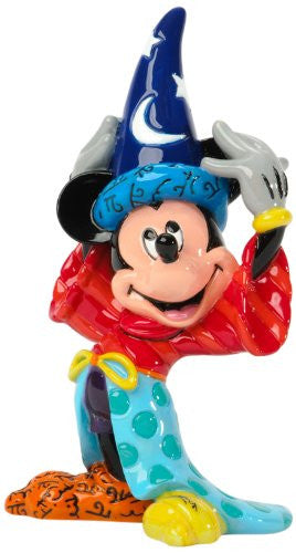 Enesco Disney by Britto Sorcerer Mickey 3.75-Inch Character Figurine, Mini - SHOPME.COM
