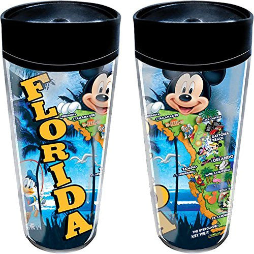 Disney Mickey Map Travel Mug (Florida Namedrop) - SHOPME.COM