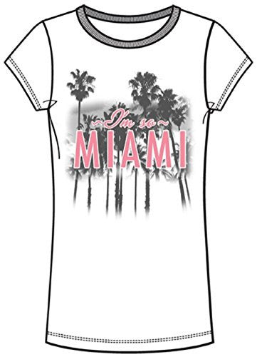 Disney Adult Fashion Top I'm So Miami, White (Miami Namedrop) - SHOPME.COM
