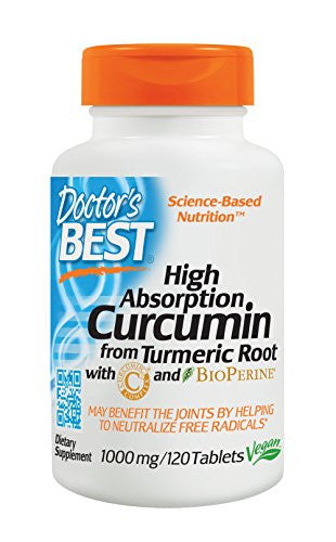 Curcumin from Turmeric Root with Curcumin C3 & BioPerine 1000mg 120 Count (Packaging May Vary) - SHOPME.COM