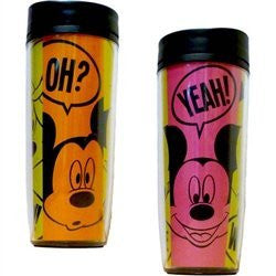 Disney Mickey and Minnie Mouse Conversation Travel Mug - SHOPME.COM