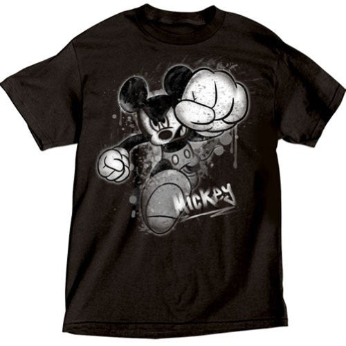 Disney Mens Mickey Mouse Smash T Shirt Black - SHOPME.COM