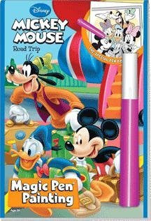 Disney Road Trip Mickey Mouse Magic Pen Painting Book by Lee Publications - SHOPME.COM
