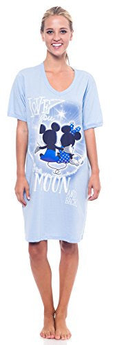 Disney Mickey Minnie Mouse Winnie the Pooh Grumpy V-Neck Sleep Shirt One Size Fits Most