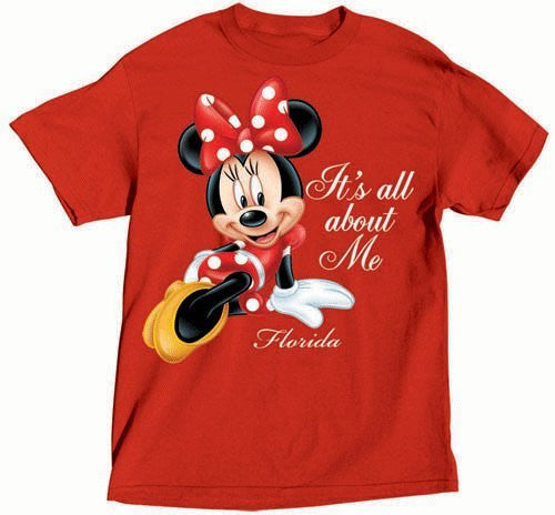 Disney All About Me Minnie Mouse Adult Oversized Tshirt - SHOPME.COM