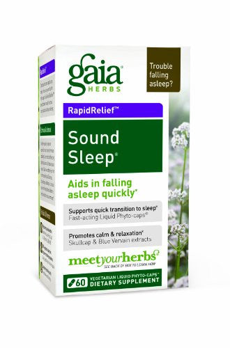 Gaia Herbs Sound Sleep, 60 Liquid Phyto-Capsules - SHOPME.COM