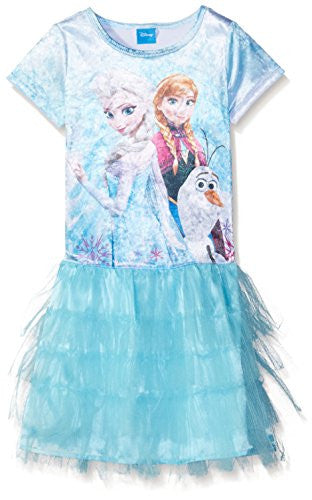 Disney Little Girls' Frozen In Action Dress - SHOPME.COM