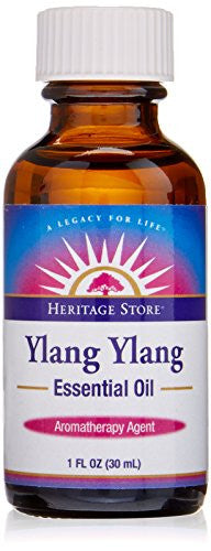 Heritage Store Essential Body Oil, Ylang Ylang, 1 Ounce - SHOPME.COM