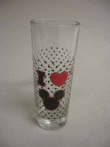 "Disney's Mickey Mouse Straight Sided Shot Glass : ""I Love Mickey"" - SHOPME.COM"