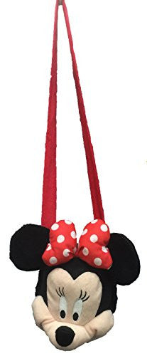 Disney Minnie Mouse Girls Long strap Plush HandBag - SHOPME.COM