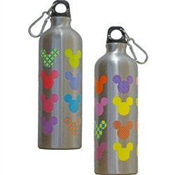 Disney Mickey Mouse Icon Heads Pop Colors Aluminum Water Bottle