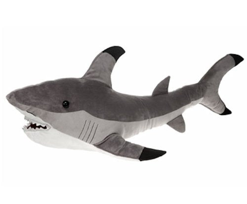 "Gray Shark Plush Stuffed Animal Toy by Fiesta Toys - 23"" - SHOPME.COM"
