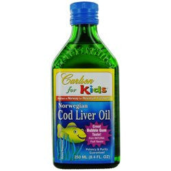 Carlson by For Kids Norwegian Cod Liver Oil Great Bubble Gum Taste--8.4 oz Carlson by For Kids No - SHOPME.COM