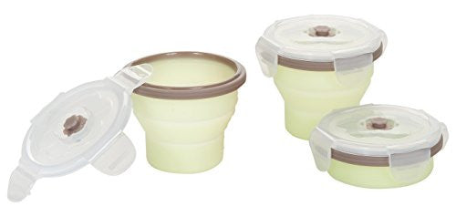 Babymoov Silicone Containers Set - Grey/Green - 3 ct - SHOPME.COM