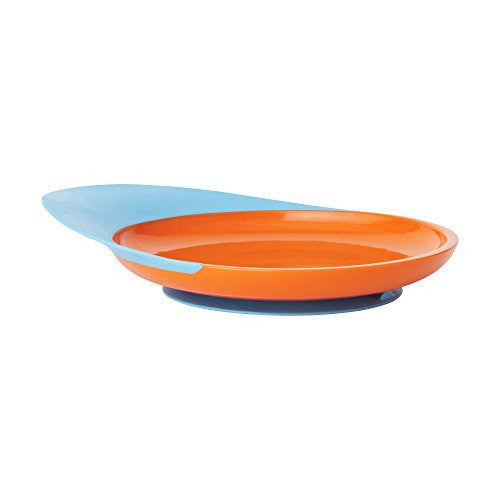 Boon Catch Plate With Spill Catcher Blue/Orange - SHOPME.COM
