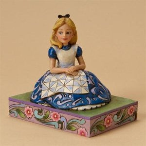 Enesco Enesco Jim Shore Jim Shore wood carving tone figure Alice in Wonderland ' parallel imports ' - SHOPME.COM