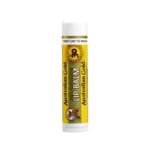 Australian Gold SPF 30 Lip Balm, 0.15 Fl Oz (Pack of 4) - SHOPME.COM