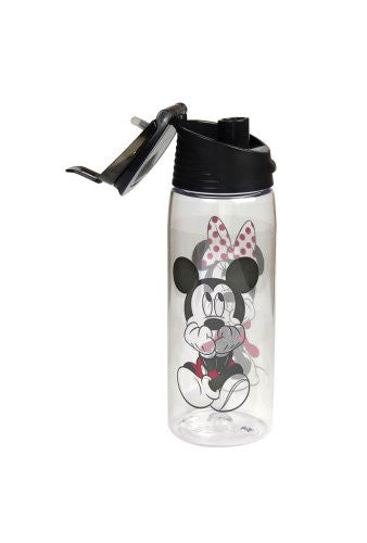 Disney Gazing Mickey Minnie Flip Top Water Bottle - SHOPME.COM