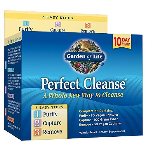 Garden of Life 10 Day Gentle Detox Pills - Perfect Cleanse Kit with Organic Fiber - SHOPME.COM