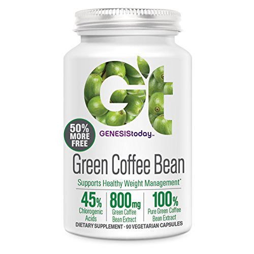 Genesis Nutrition Genesis Today Pure Green Coffee Bean, 90 Count