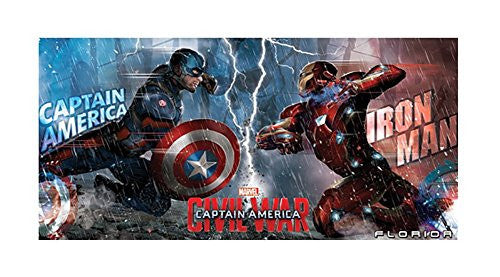 Marvel Friendly Fire Captain America Iron Man Beach Towel - SHOPME.COM