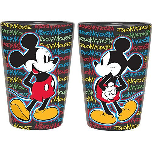 Disney Mickey Mouse Text Scribble Ceramic Shot Glass - SHOPME.COM
