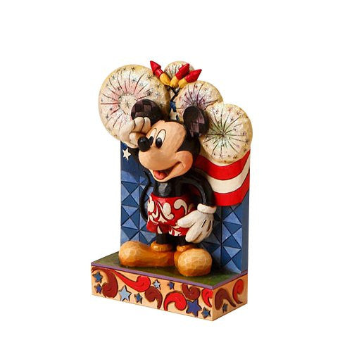 Disney Traditions by Jim Shore 4016558 Patriotic Mickey Mouse Figurine 4-Inch - SHOPME.COM