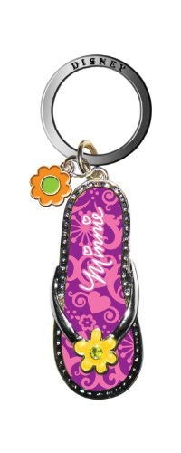 Disney Minnie Flip Flop Key Ring, Purple - SHOPME.COM