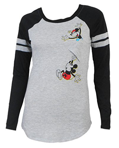 Disney Juniors Hang On Mickey Long Sleeve Top - SHOPME.COM