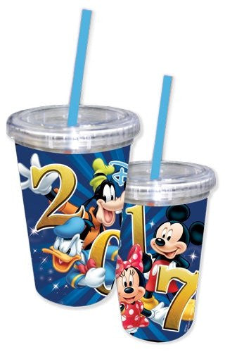 Disney Mickey Mouse, Donald Duck, Goofy, Pluto, Double Wall Acrylic Tumbler
