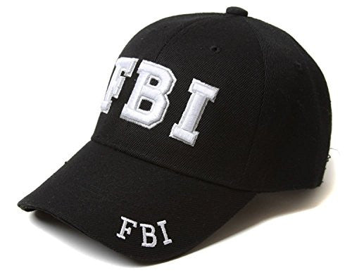 FBI - Law Enforcement - Baseball Cap / Hat Adjustable BLACK with 3D Embroidery - SHOPME.COM