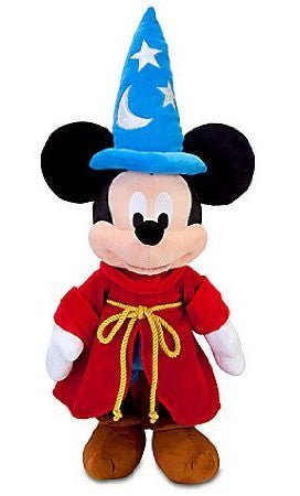 Disney Fantasia Sorcerer Mickey Mouse Plush Toy - 24''