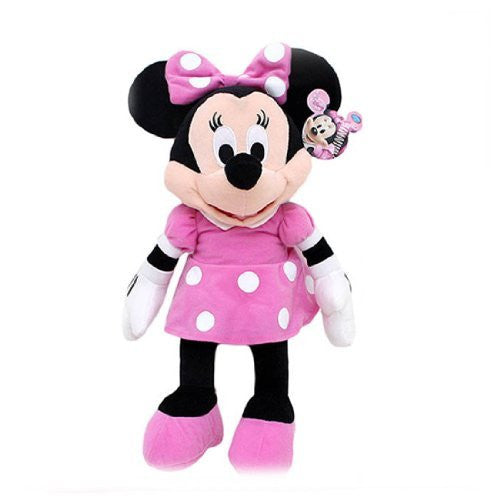 "Disney Mickey Mouse Clubhouse - Minnie Mouse 15"" Inch Plush w/ Pink Dress and Bow"