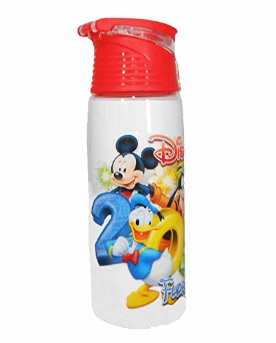 Disney 2017 Mickey Mouse & Group Stacked Hybrid Flip Top Acrylic Bottle Red - SHOPME.COM