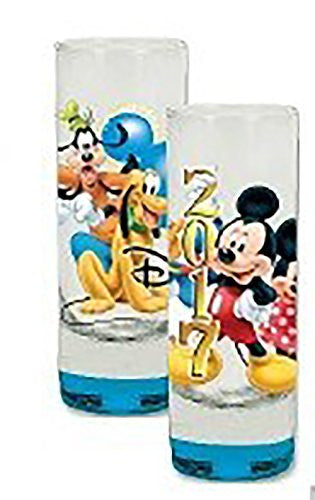 Disney 2017 Exclusive Mickey Mouse & Group Shot Glass/Toothpick Holder