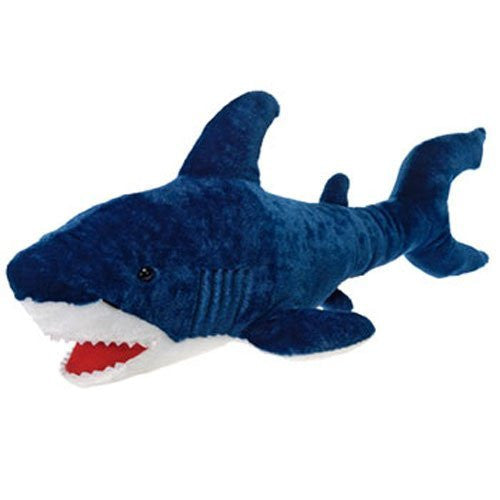 "Large Blue Shark Plush Stuffed Animal Toy by Fiesta Toys - 29.5"" - SHOPME.COM"