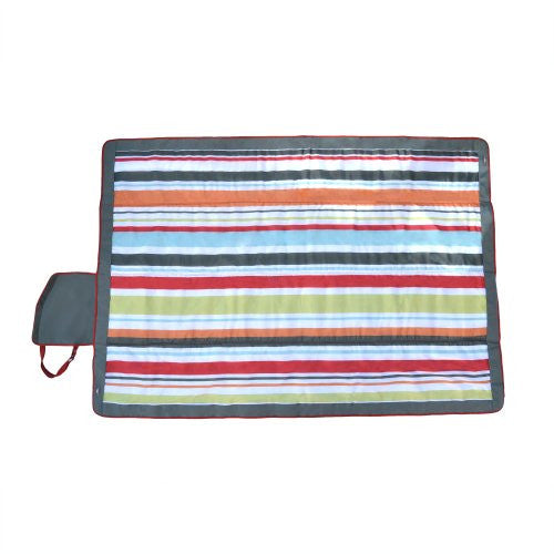 Jj Cole Outdoor Blanket, 7'X'5 Gray/Red - SHOPME.COM