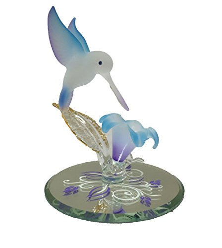 Glass Baron Hummingbird Flower Blue - SHOPME.COM