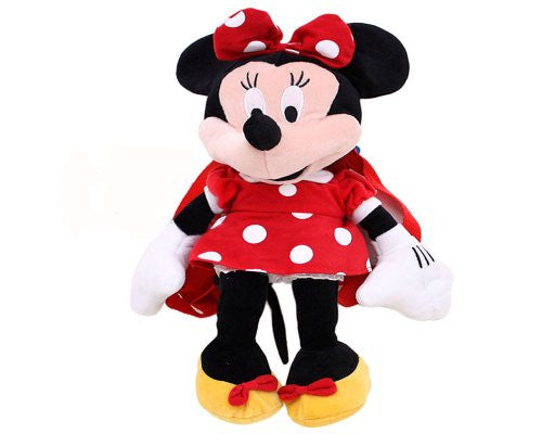 Minnie Mouse Plush Back Pack - SHOPME.COM