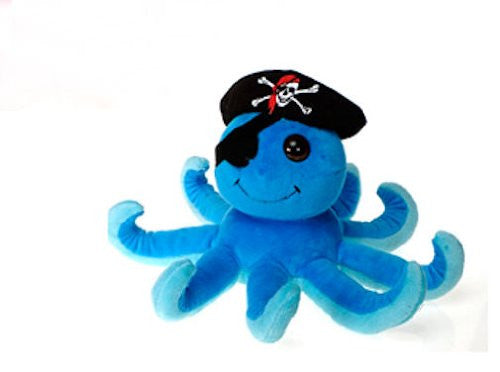 "7"" H 2 ASST. COLOR PIRATE OCTOPUS - PINK, BLUE"